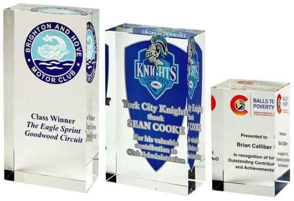 Portrait Crystal Block Award for Colour Printing