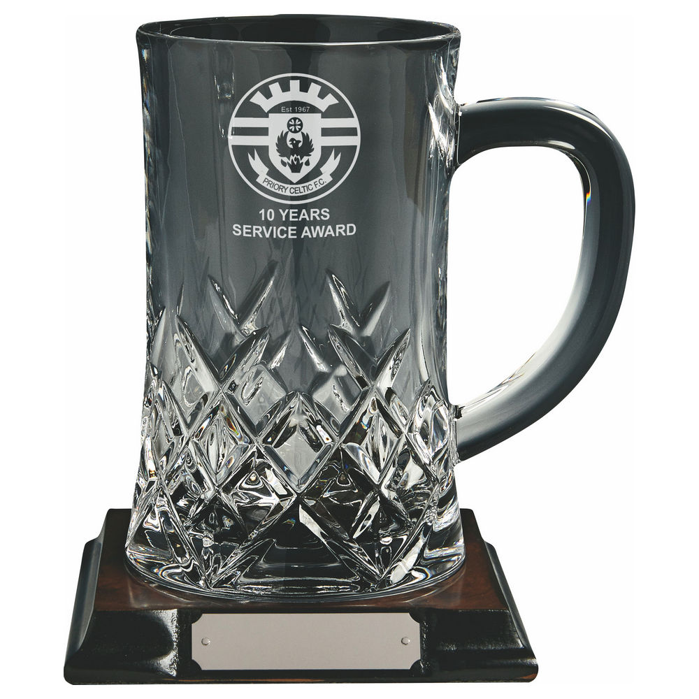 1 Pint Crystal Tankard on Base