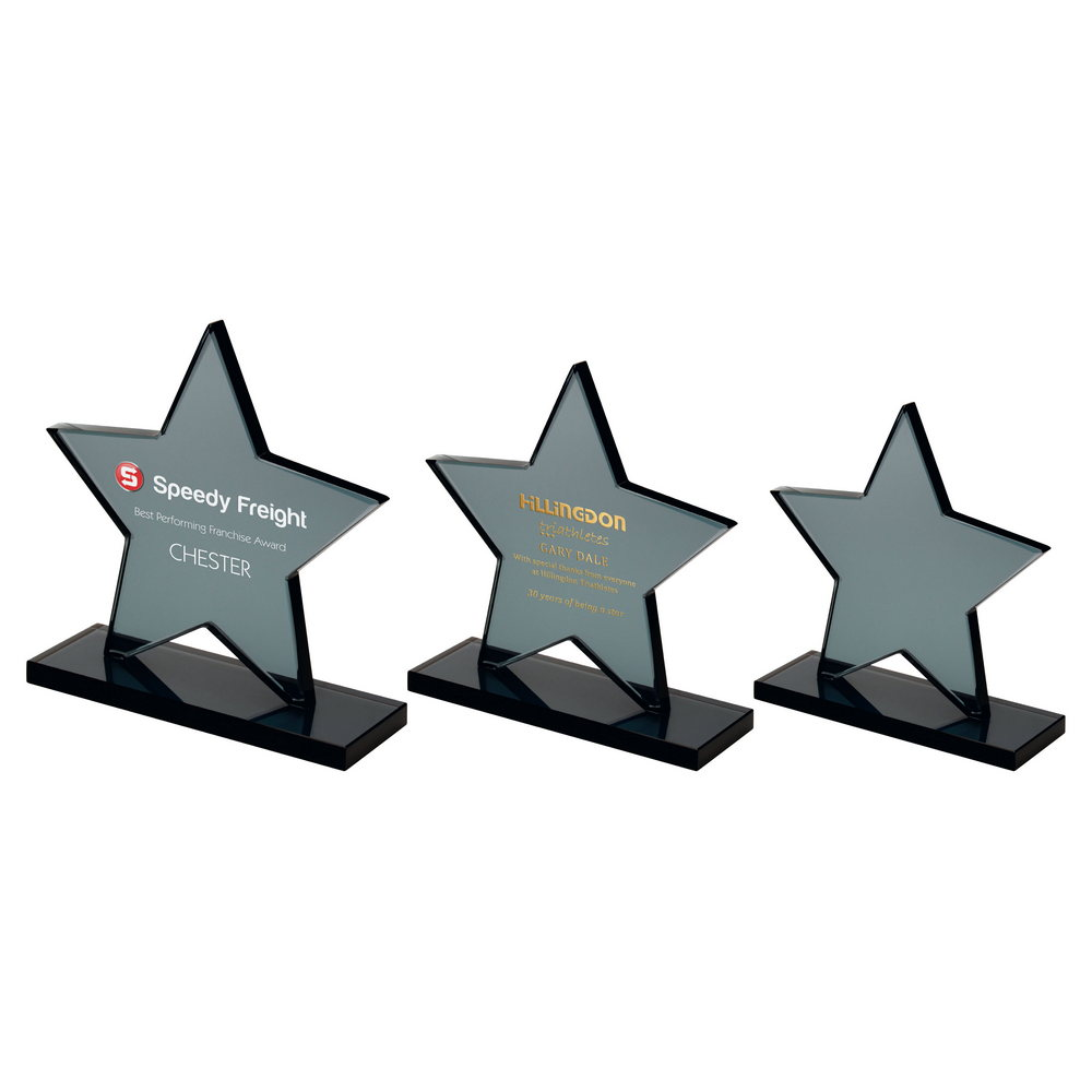 Smoiked Glass Star Award