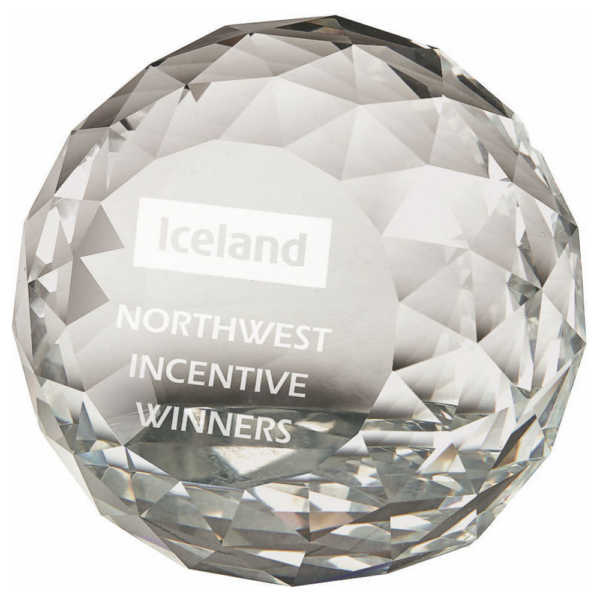 Crystal Paperweight Award