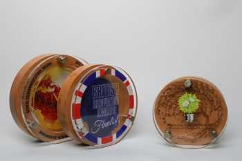 Wood and Acrylic Circle Award