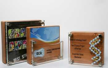 Wood and Acrylic Square Award