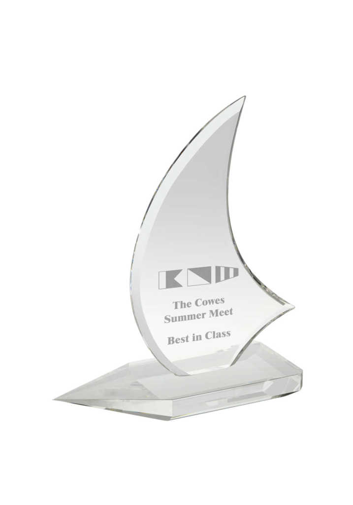 Crystal Sailing Boat Award