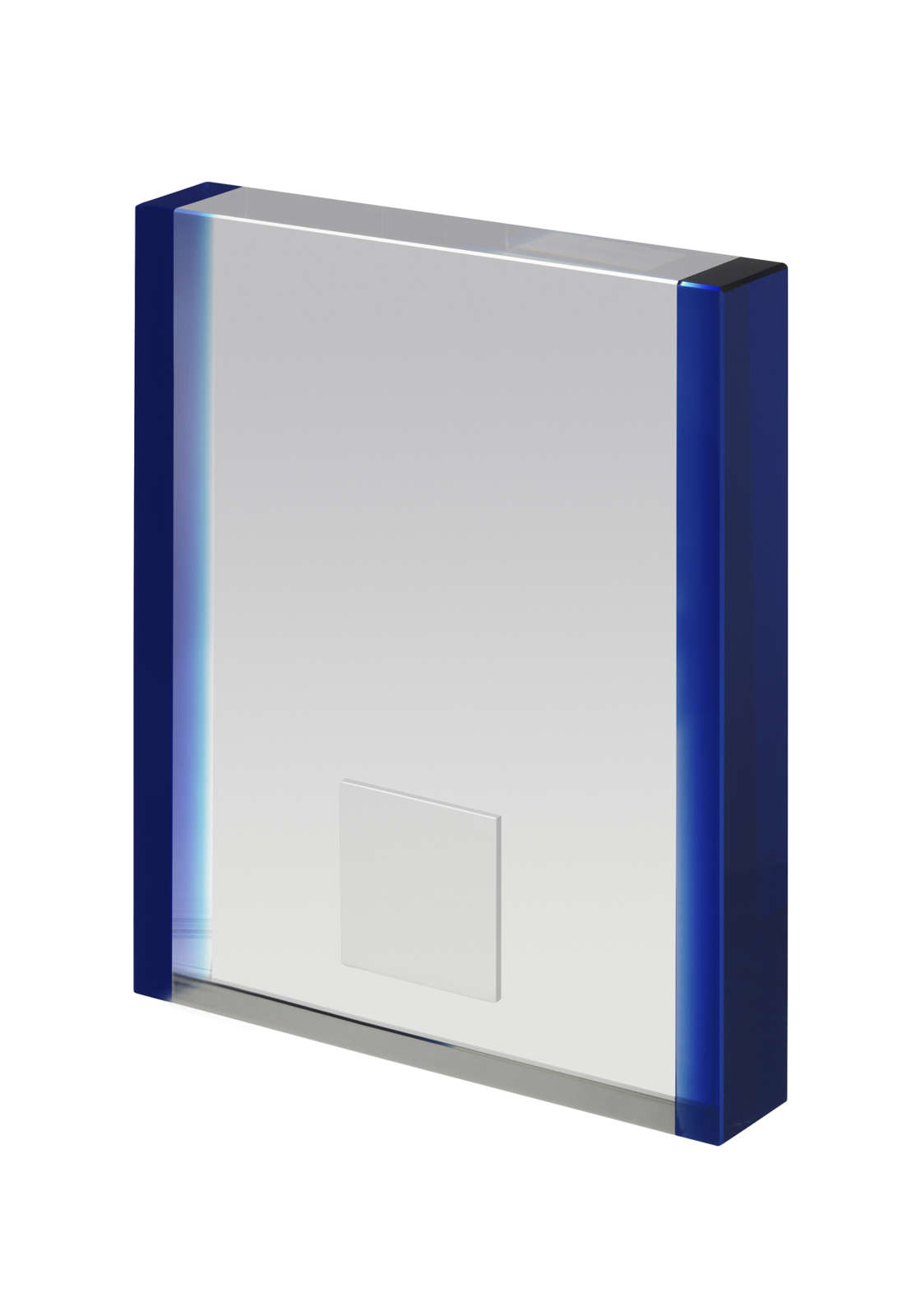 Crystal Block Award with Blue Sides