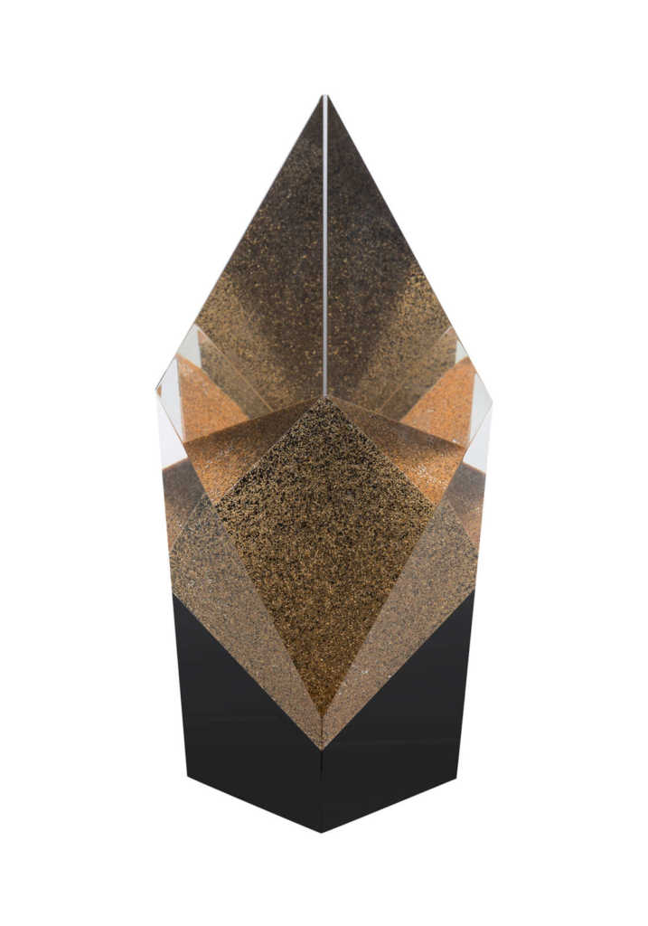 Bronze Glitter Crystal Award