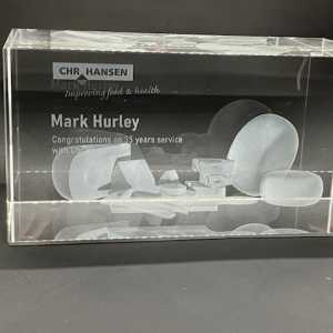 CHR Hansen 3D Engraved Glass Award