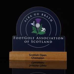 Footgolf Association of Scotland Coloured Metal and Wood Award