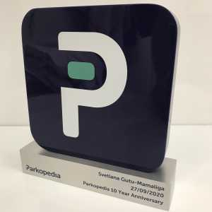 Parkopedia Acrylic and Metal App Award