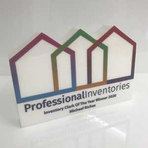 Professional Inventories Custom Acrylic Award